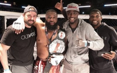 Leach wins NFC Heavyweight title!